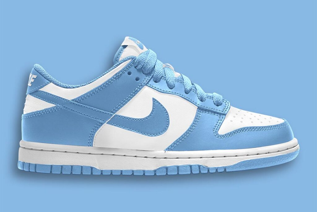 """the-nike-dunk-low-""""university-blue""""-adds-to-the-2021-dunk-craze"""