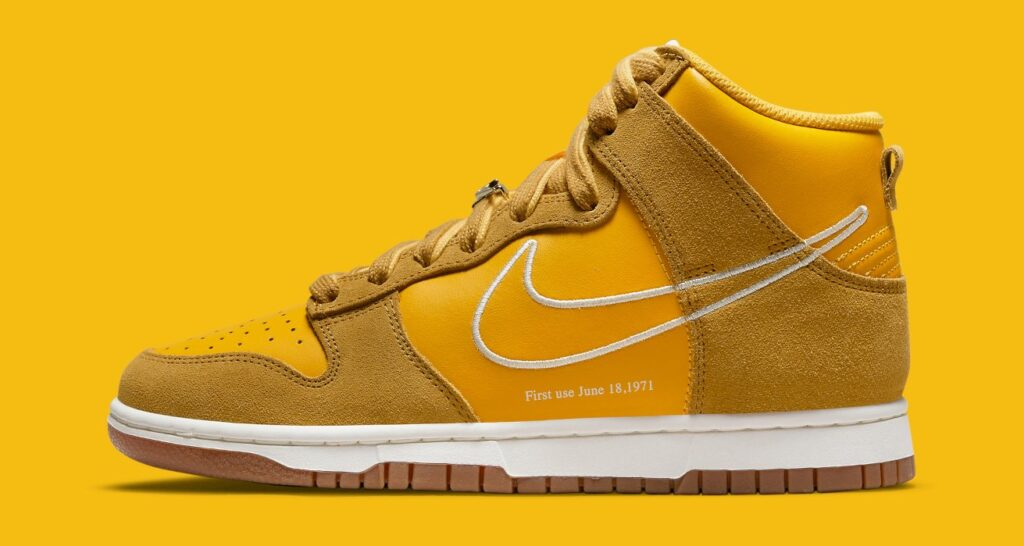 """nike-adds-a-""""university-gold""""-dunk-high-to-its-""""first-use""""-collection"""