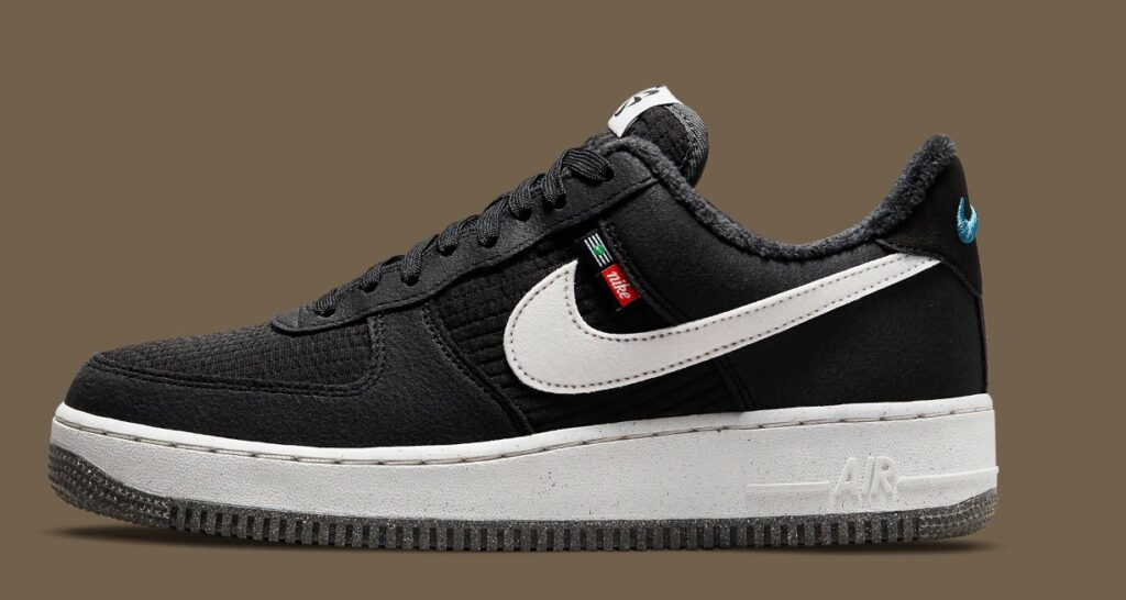 """this-nike-air-force-1-low-""""toasty""""-goes-black-&-white"""