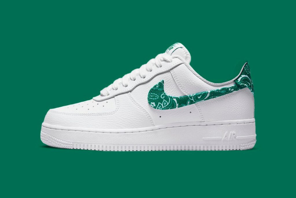 """the-nike-air-force-1-low-gets-dressed-in-""""green-paisley"""""""